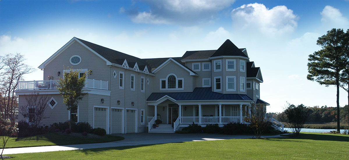 A Residential Custom Home on the Eastern Shore, built by Bunting Construction.